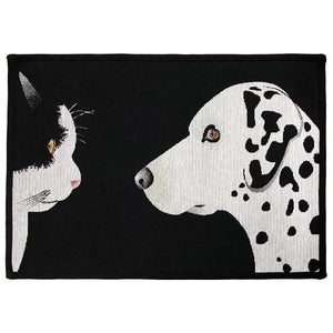 PB Paws & Co. Tapestry Pet Mats, Best Friends Pattern