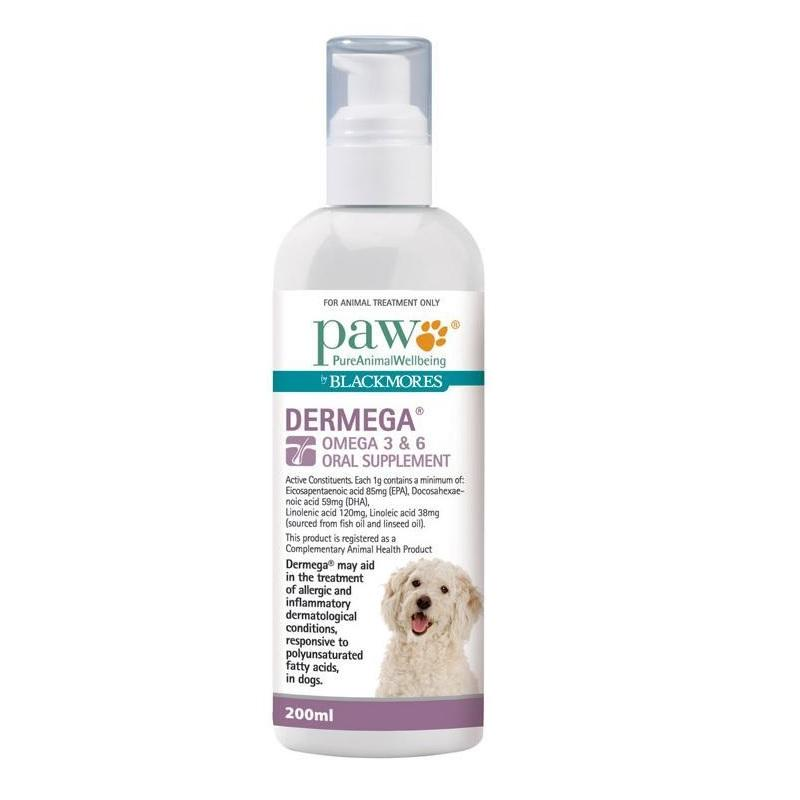 PAW Dermega Omega 3 & 6 Oral Supplement | Singpet.Com