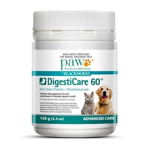 Paw Digesticare 60 Probiotic Supplement | Singpet.COM