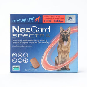 NexGard Spectra X-Large Dogs 66-132 lbs (30-60 kg), 3 Pack | UnitetPetWorld