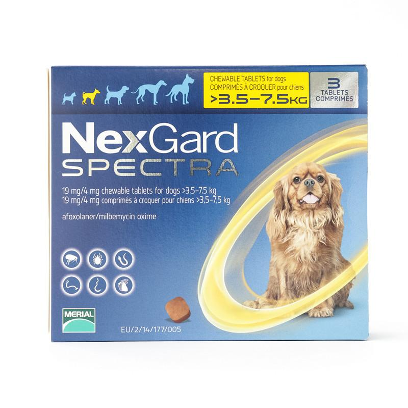 NexGard Spectra Small Dogs 8-16 lbs (3.5-7.5 kg) | UnitedPetWorld
