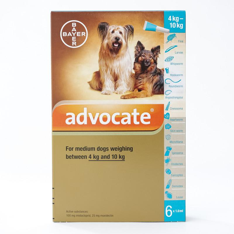 Bayer Advocate for Medium Dogs 8.8-22 lbs (4-10 kg) - 6 pack |