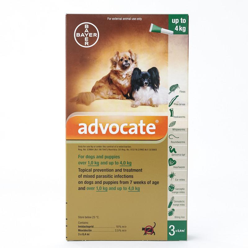 Bayer Advocate for Small Dogs below 8.8 lbs (4 kg) |