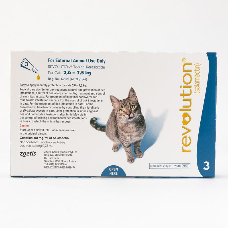 Zoetis Revolution Blue for Cats 5.7-15.5 lbs (2.6-7.5kg), (Frontview)|
