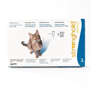 Stronghold 45 mg spot-on solution for cats 2.6–7.5 kg, 3 Pack | Singpet.Com.Sg