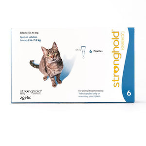 Stronghold 45 mg spot-on solution for cats 2.6–7.5 kg, 6 Pack | Singpet.Com.Sg