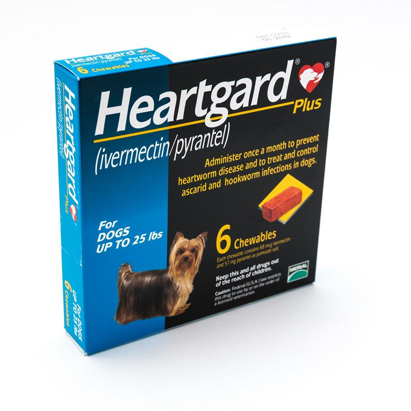 Heartgard Chewables Plus for dogs up to 25 lbs, Blue |