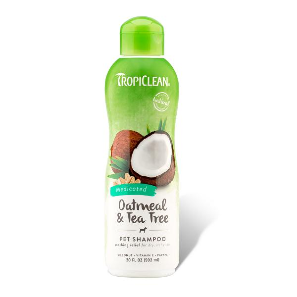 Tropiclean Oatmeal & Tea Tree Dog Shampoo | Singpet.Com