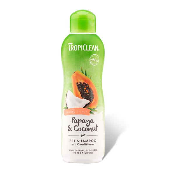Tropiclean Papaya & Coconut Pet Shampoo & Conditioner | Singpet.Com