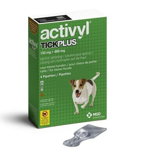 Activyl Tick Plus for Small Dogs 5.1-10 kg (11-22 lbs) UPW 4 Pack |