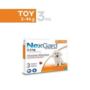 NexGard Chews Very Small Dogs 4-10lbs (2-4kg), 3 Pack |