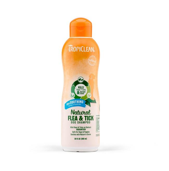Tropiclean Natural Soothing Flea & Tick Dog Shampoo | Singpet.Com