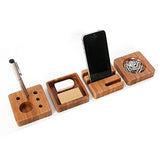 4 Piece Wooden Stationery Desk Set