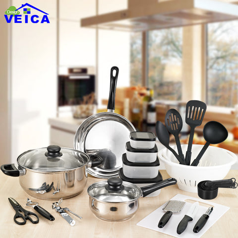 35 Piece Kitchen Cooking Utensil Set