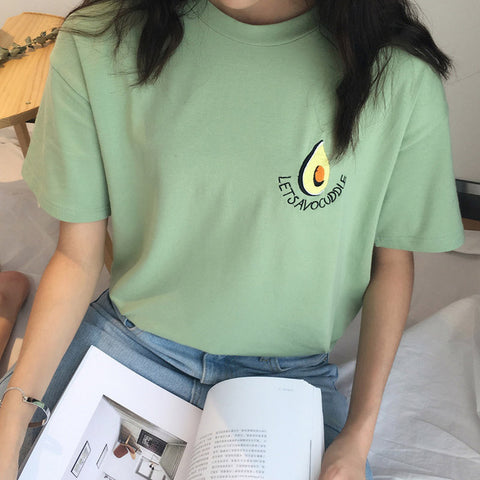 Khaki Let's Avocuddle Tee