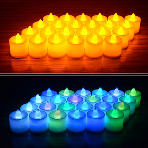 6Pcs Battery Powered LED Coloured Simulation Candles