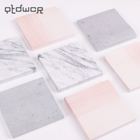 Marble Self-Adhesive Memo Sticky notes