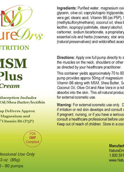 MSM Plus Cream
