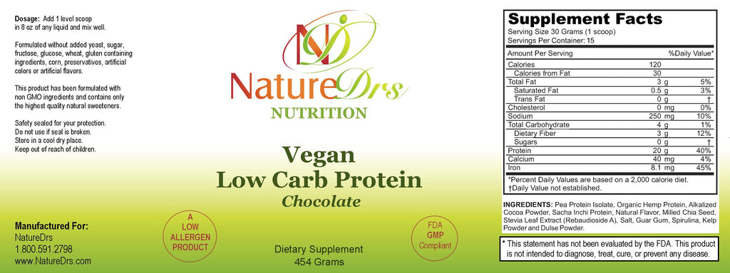 Vegan Low Carb Protein Chocolate