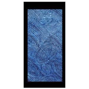 ME™ Blue Brocade Adire Black Border Canvas Print