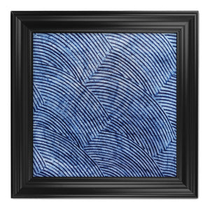 ME™ Blue Brocade Adire Framed Canvas Wall Decor Show Your Africa Black