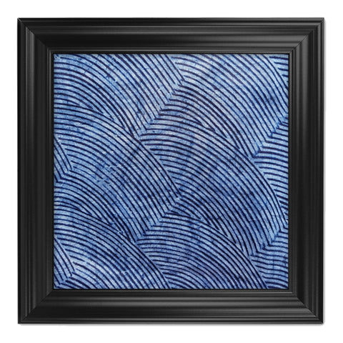 ME™ Blue Brocade Adire Framed Canvas
