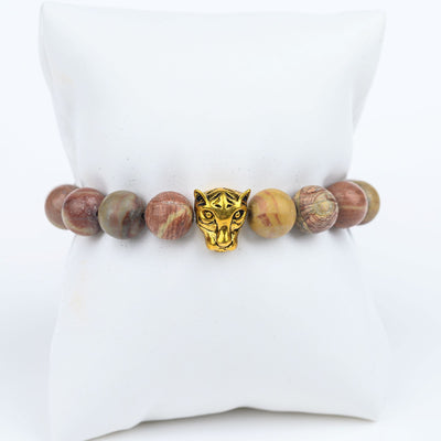 ME™ Panther Natural Stones 7-inch Bracelet Women's Bracelets Show Your Africa