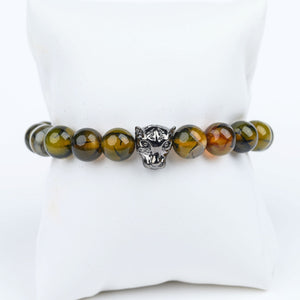 ME™ Panther Dragon Agate 8-inch Bracelet Unisex Bracelets Show Your Africa