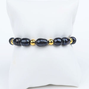 ME™ Owambe 7-inch Black Pearl Bracelet Show Your Africa