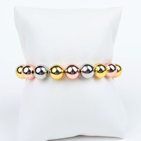 ME™ Metals Three-Tone 7-inch Bracelet Women's Bracelets Show Your Africa