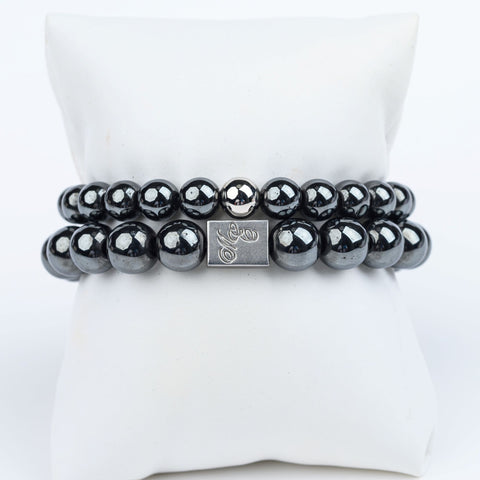 ME™ His & Hers Hematite 2-pc Bracelet Set Unisex Bracelets Show Your Africa