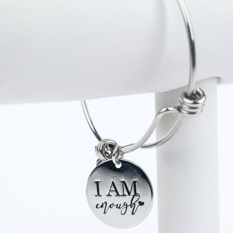 ME™ I am Enough Silvertone Bangle Accessories Show Your Africa