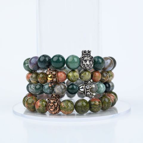 ME™ Crown His & Hers Unakite 2-pc Bracelet Set Jewelry Sets Show Your Africa