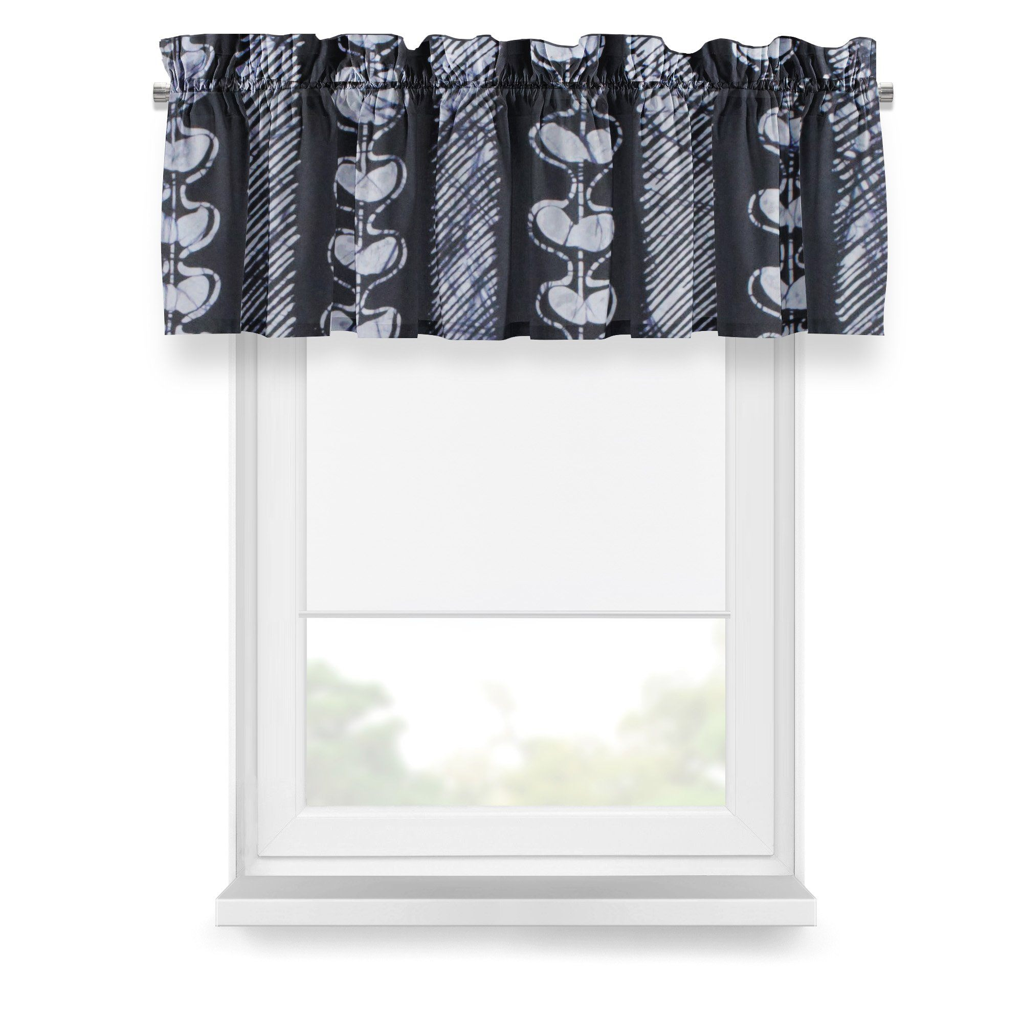 ME™ Batik Valance - Egba Stripes Window Treatment Show Your Africa Egba Batik Stripes