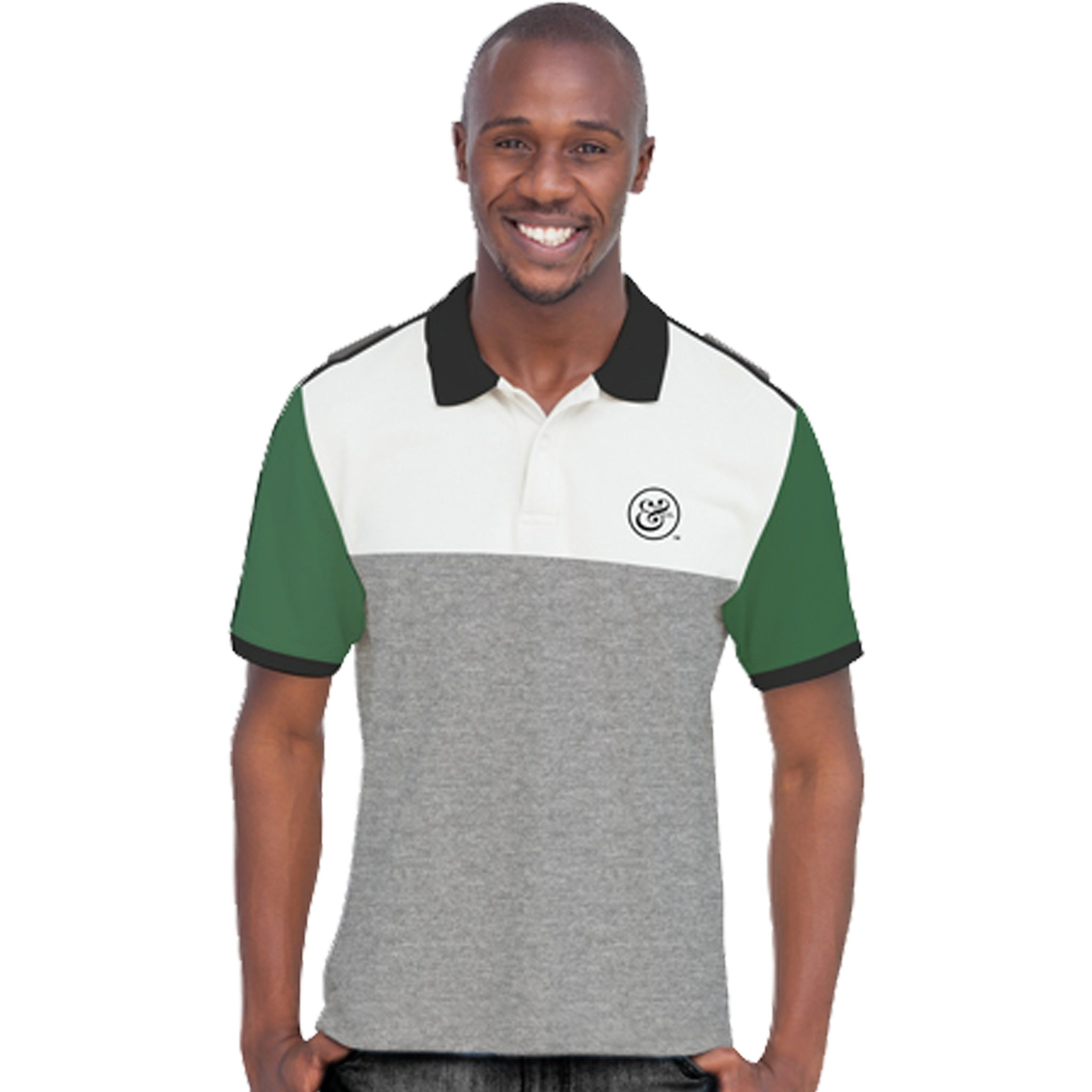 EKO&CO.™ Slim Fit Grey Polo with NO Flag