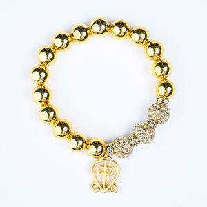 ME™ Odo Nnyew Fie Kwan 7-inch Layering Goldtone Charm Bracelet Women's Necklaces Show Your Africa