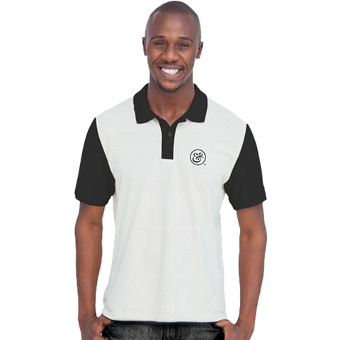 EKO&CO.TM Slim Fit White Polo with NO Flag