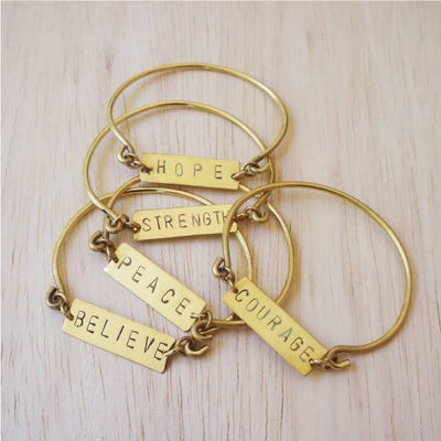 ME™ Hope Ghanaian Brass Bangle