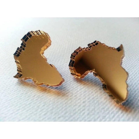 Holey Moley™ Gold Mirror Africa Stud Unisex Bracelets Show Your Africa