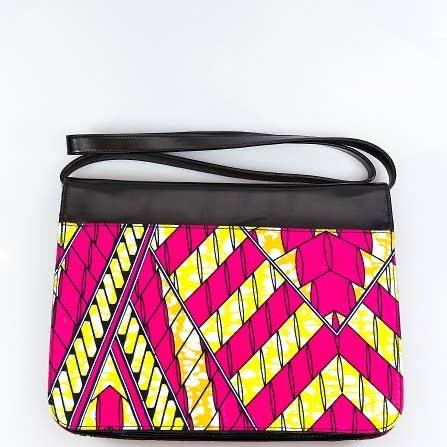 AMMA JO Fold Over Clutch - Black Show Your Africa