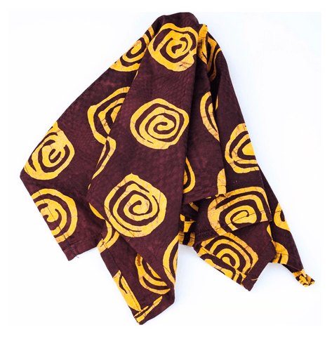 ME™ Spiral Batik Bandana Face Mask Scarves Show Your Africa