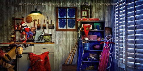 Santa's Workshop 2 Background-Art of Magic and Light Inc.