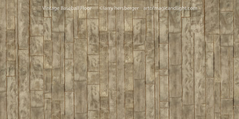 Vintage Floor for Plain Baseball Background-Art of Magic and Light Inc.