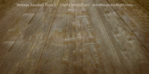 Vintage Baseball Floor For Propped Wall-Art of Magic and Light Inc.
