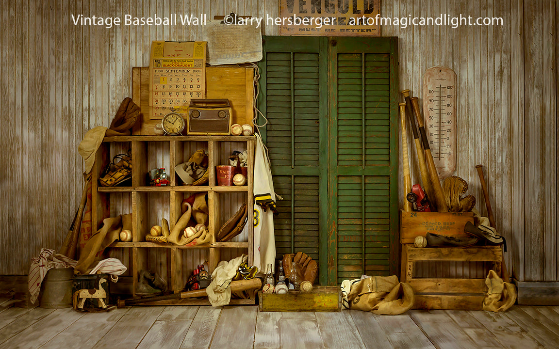 Vintage Baseball Wall Propped-Art of Magic and Light Inc.