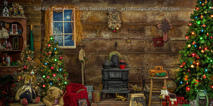 Santa's Den Background-Art of Magic and Light Inc.