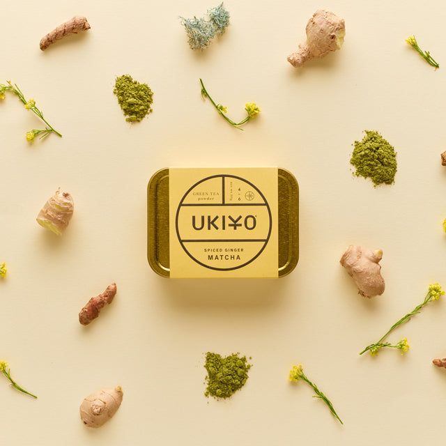 UKIYO spiced ginger matcha green tea