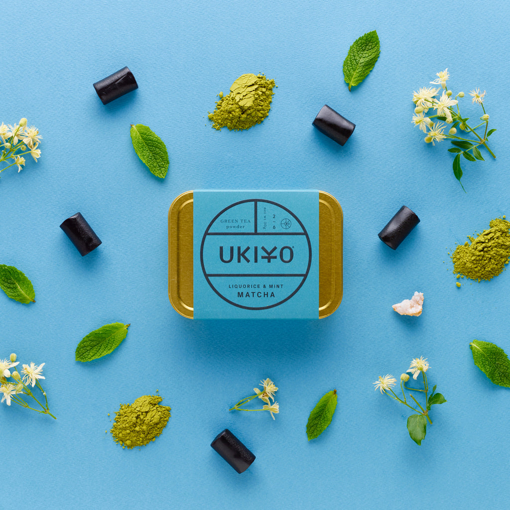 UKIYO liquorice and mint matcha green tea