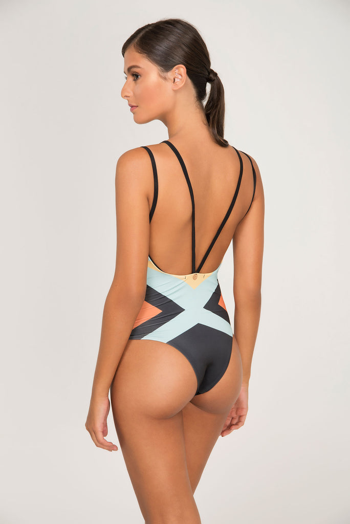 LOKAL PRINT DOUBLE DEEP ONE PIECE - LE BAIN RESORTWEAR