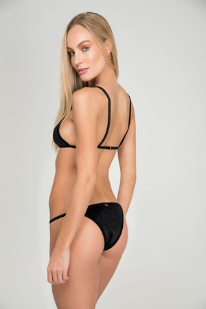SEA PLUMES TOP VELVET FIXED TRIANGLE | BOTTOM VELVET STRAP THIN - LE BAIN RESORTWEAR